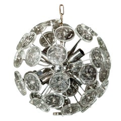 "Glass Disk ""Sputnik"" Chandelier"