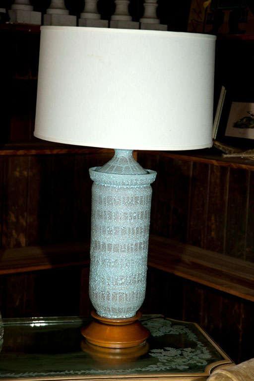 """Large Pale Blue """"Lava"""" Ceramic Lamp For Sale 2"""