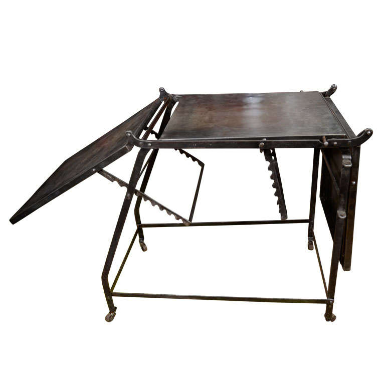 French Industrial Coffee Table: French Industrial Folding Table At 1stdibs