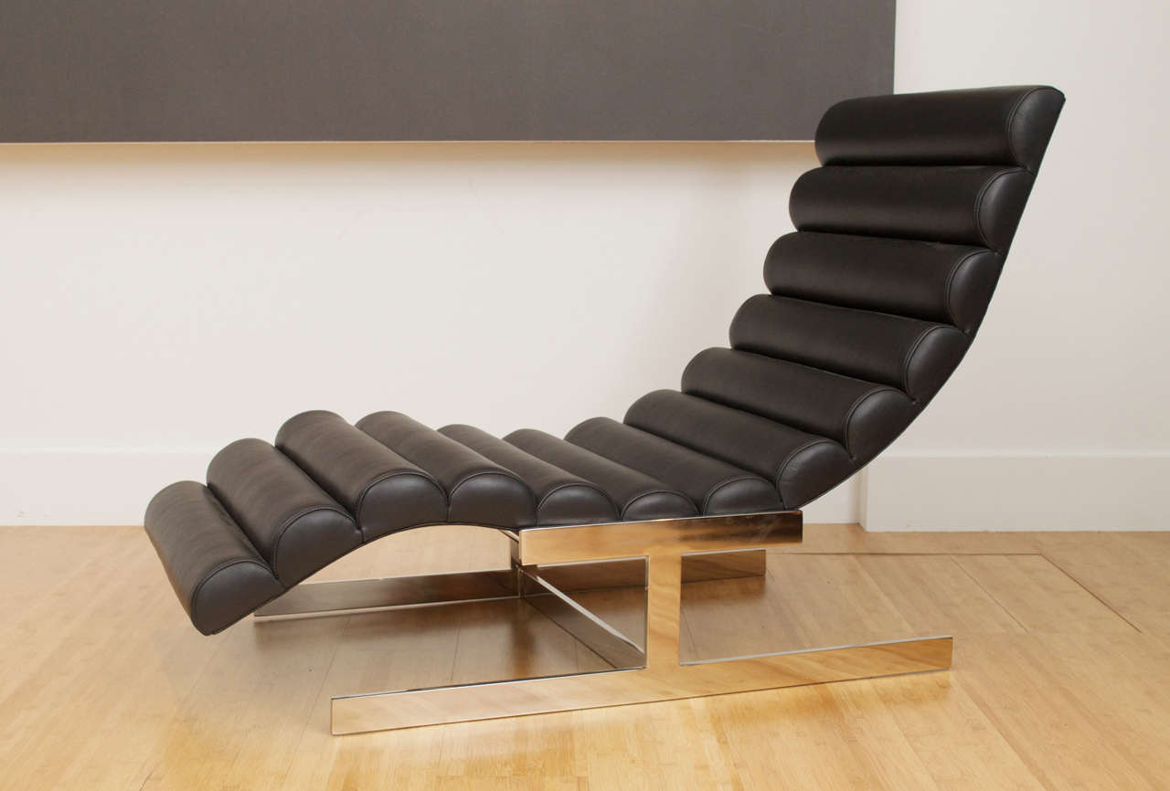 Milo Baughman Style Wave Chaise Longue 3 : wave chaise - Sectionals, Sofas & Couches