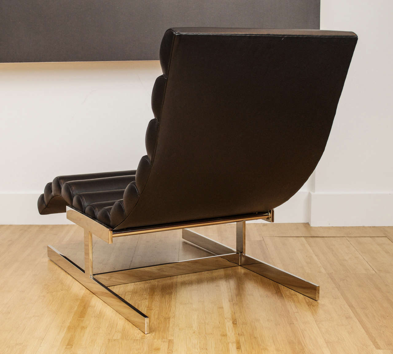 Milo baughman style wave chaise longue for sale at 1stdibs for Chaise longue sale