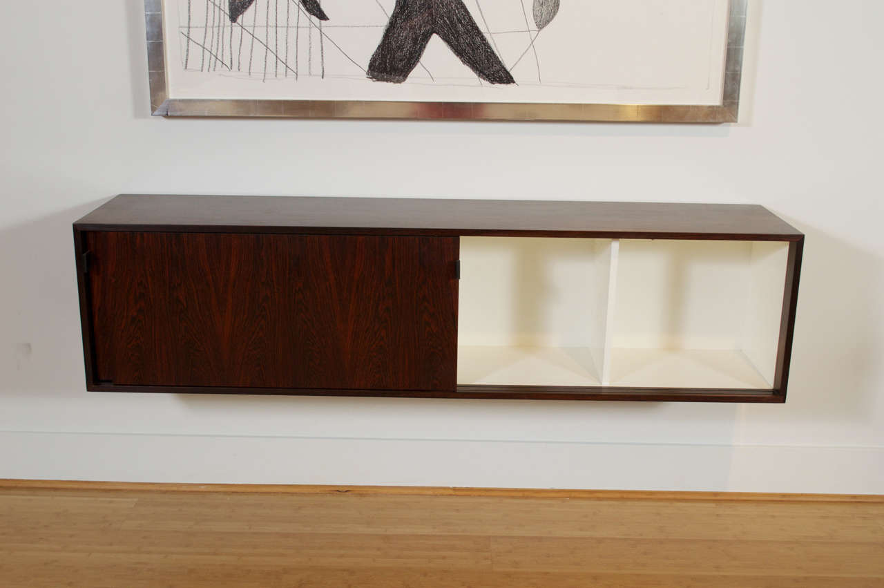 wall hanging rosewood credenza by florence knoll for sale at stdibs - wall hanging rosewood credenza by florence knoll