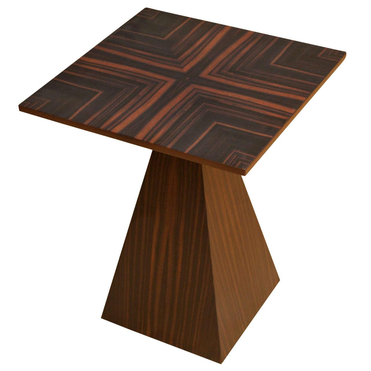 harvey probber wenge end table for sale at 1stdibs. Black Bedroom Furniture Sets. Home Design Ideas