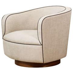 Milo Baughman - Low Barrel Chair