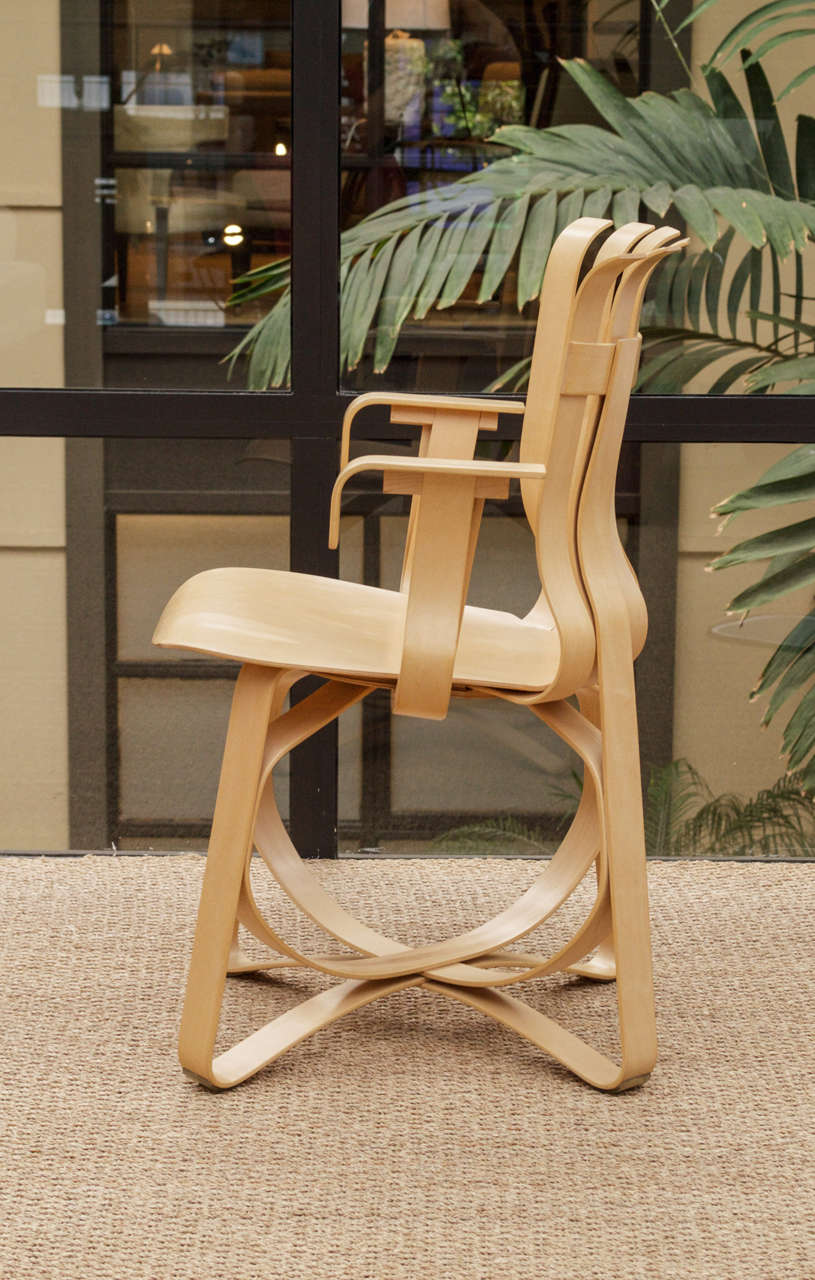 Hat Trick Armchair by Frank Gehry for Knoll In Excellent Condition In San Francisco, CA