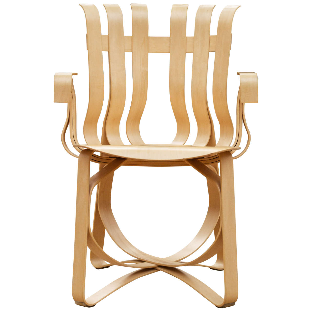 Frank Gehry Hat Trick arm chair for Knoll, 1998