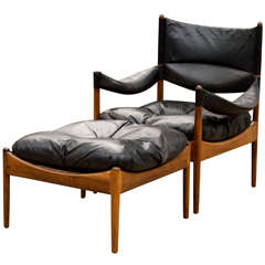 Kristian Solmer Vedel 'Modus' Lounge Chair with Ottoman