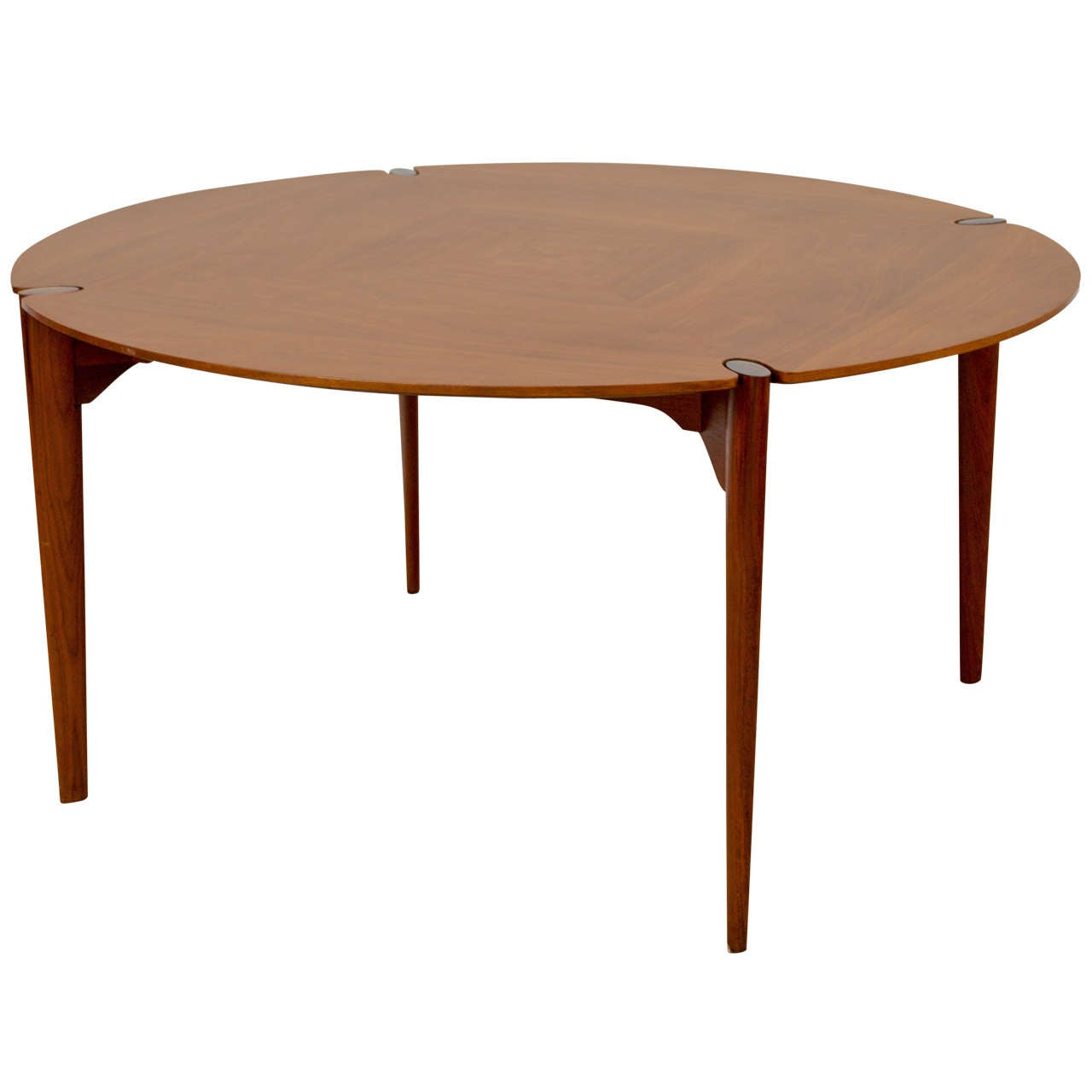 Walnut dining game table by brown saltman at 1stdibs for Dining room game table