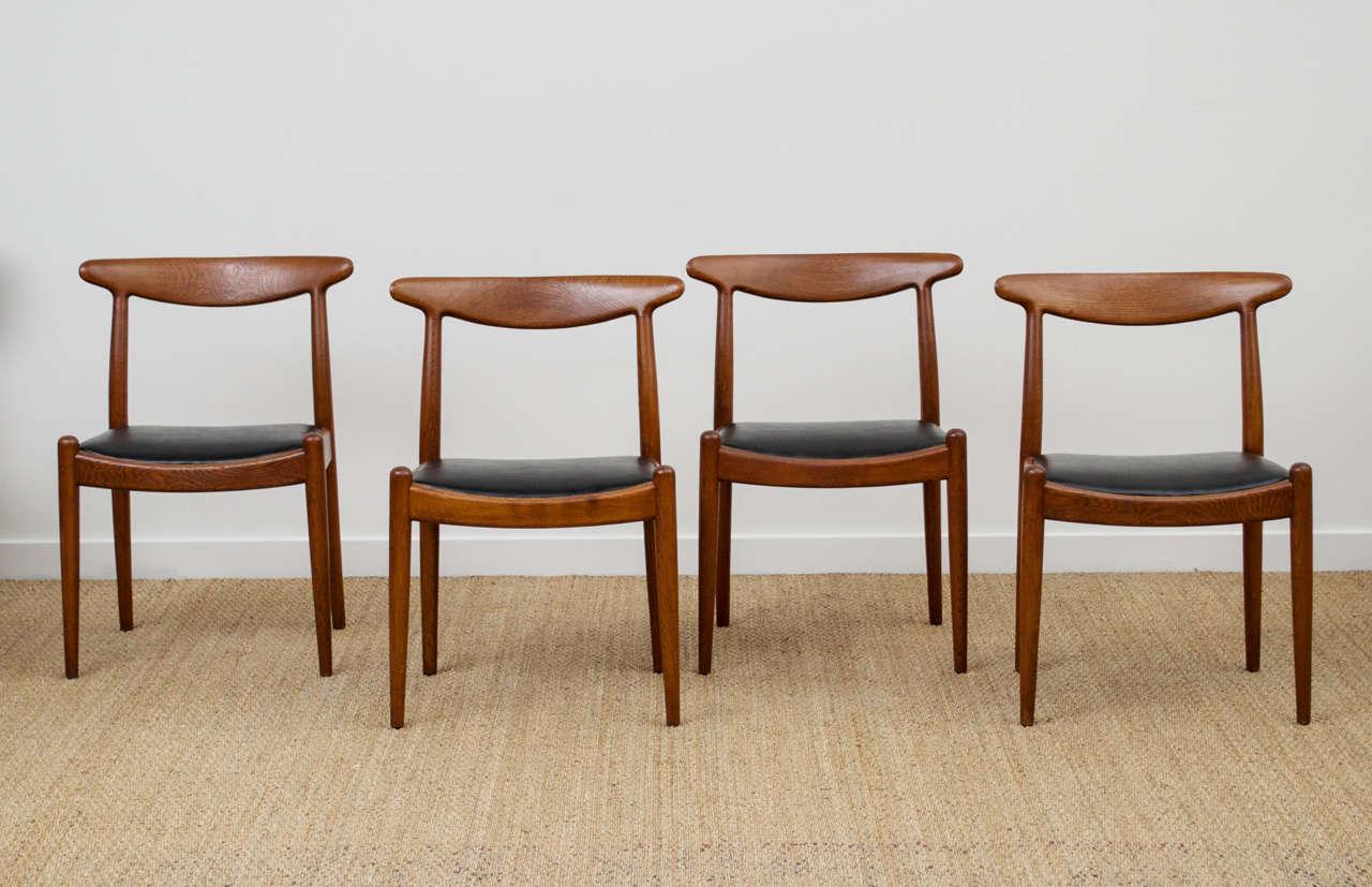 Hans Wegner Dining Chair Model W2 at 1stdibs