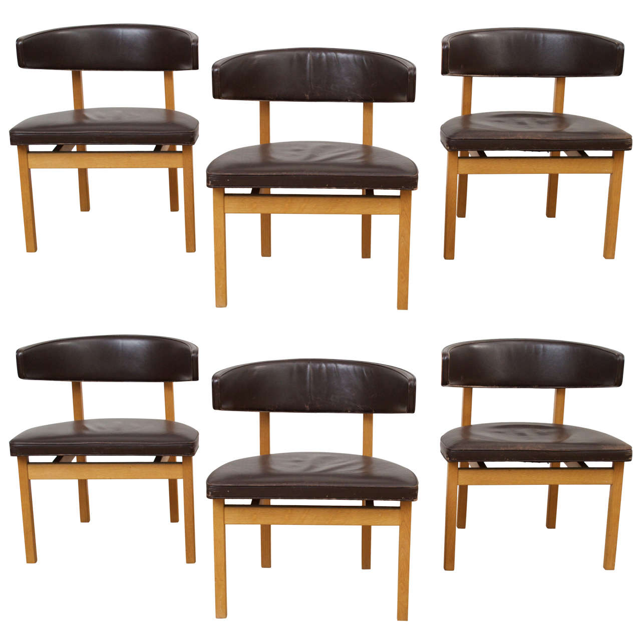 Brown conference chairs - B Rge Mogensen Conference Or Dining Chairs 1