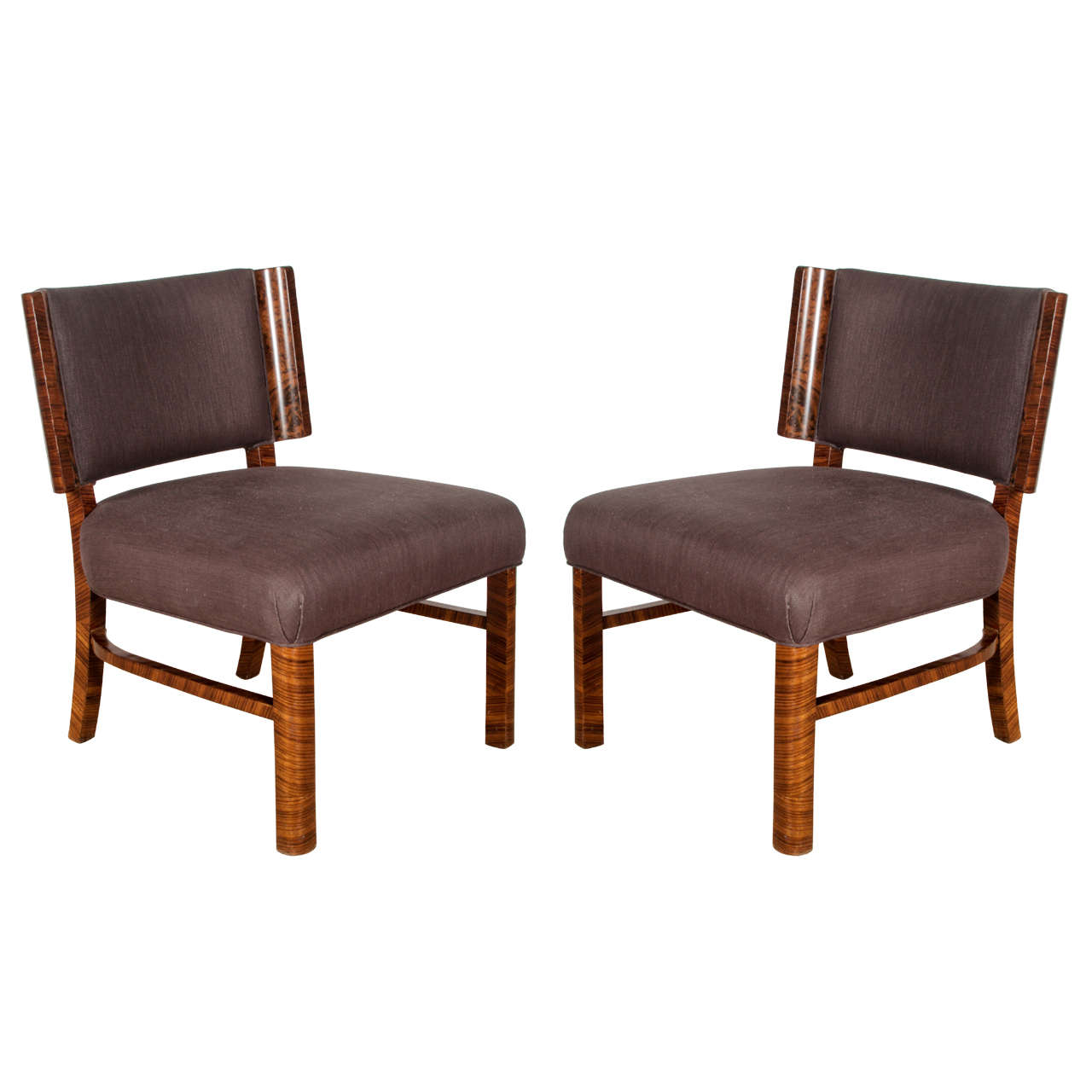 Pair of french modern macassar chairs for French modern furniture
