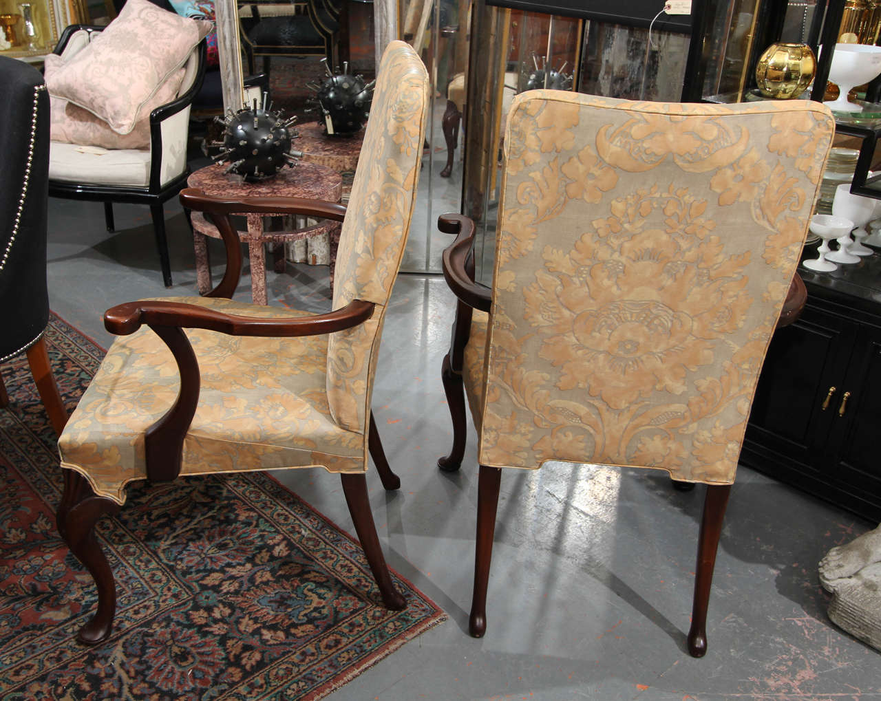 Pair Of Fortuny Armchairs At 1stdibs