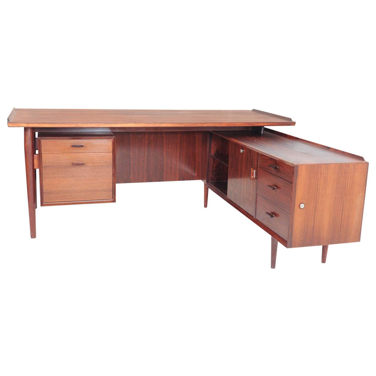 Arne Vodder For Sibast L Shaped Executive Desk And Sideboard