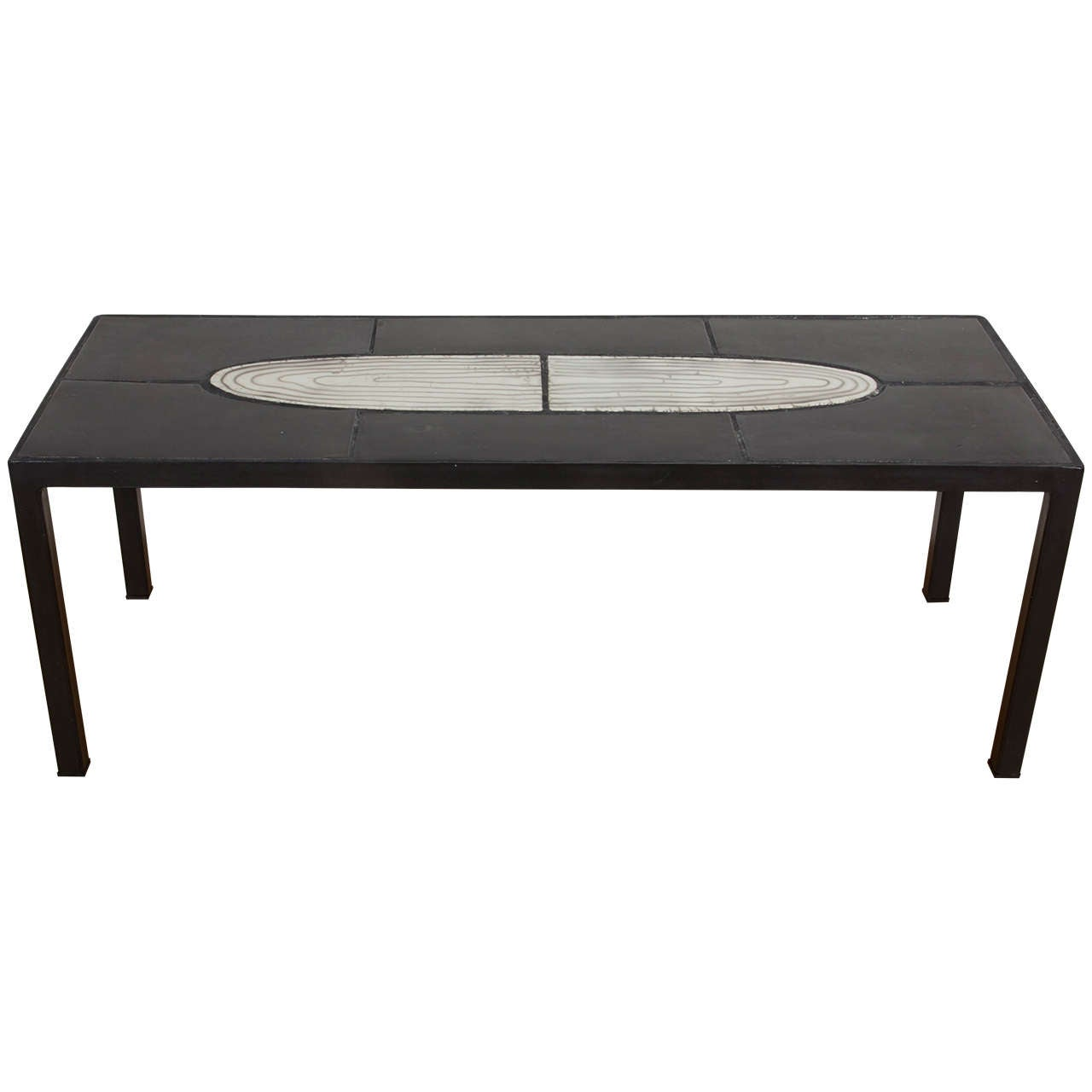 French Contemporary Ceramic Coffee Table