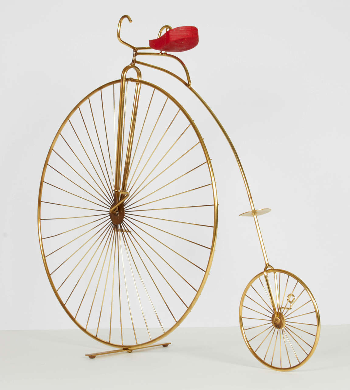 American Curtis Jere Bicycle Tabletop or Wall Sculpture For Sale