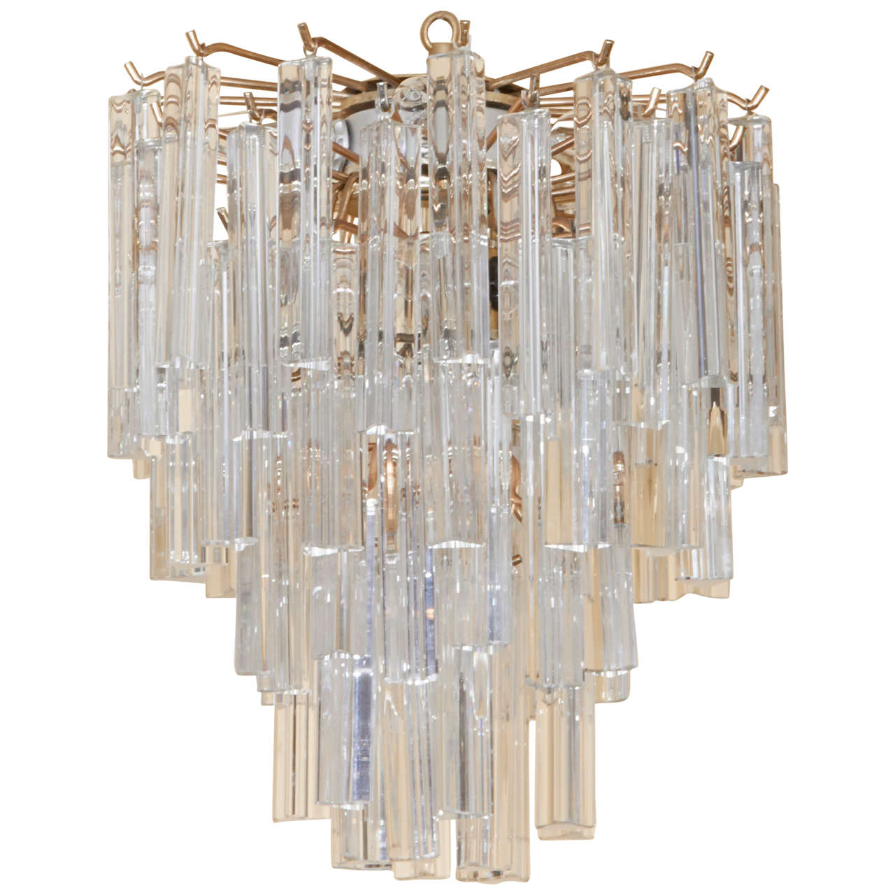 Murano Crystal Chandelier At 1stdibs