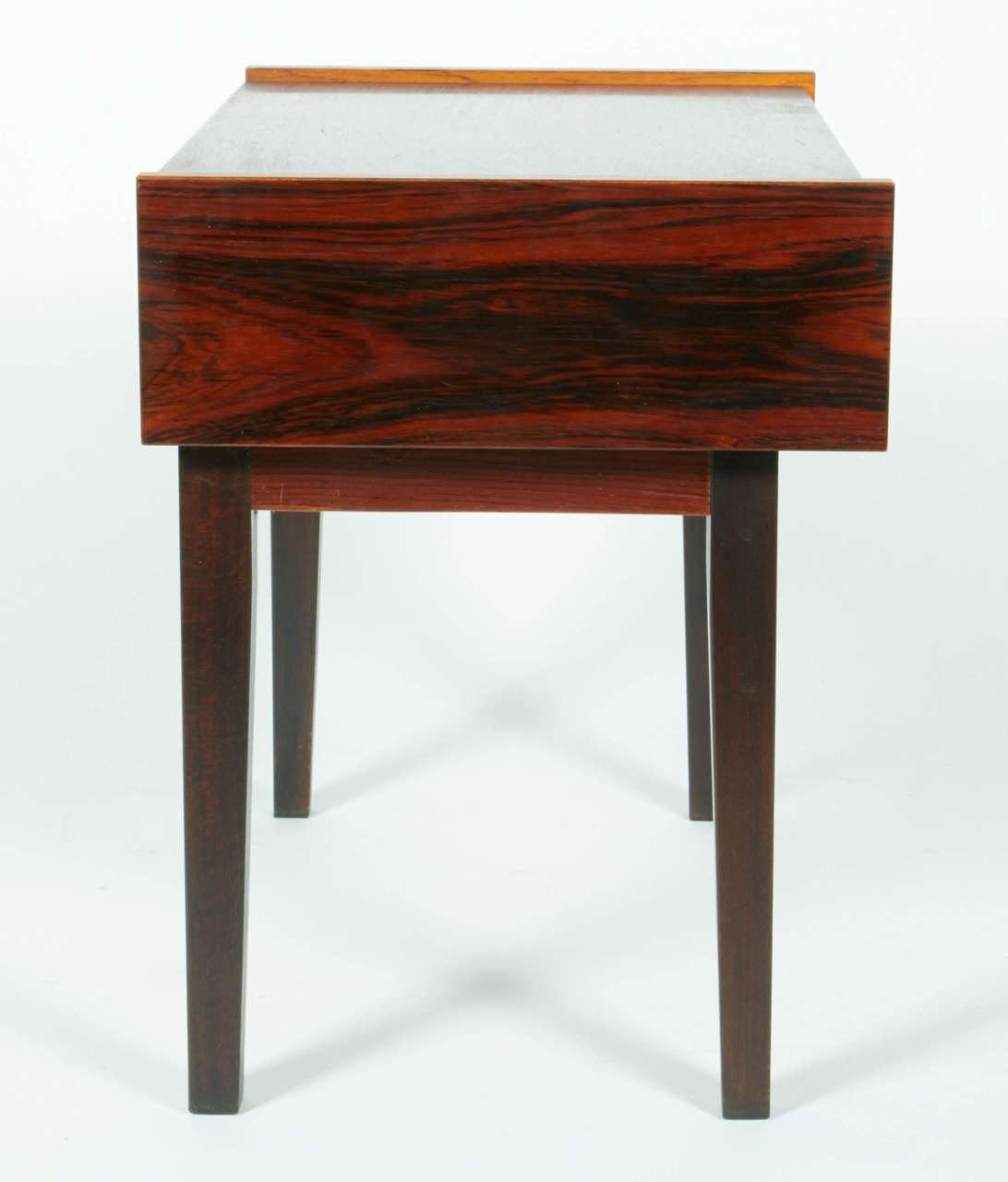 Small Mid-Century Scandinavian Side Table with Tile Drawer, Denmark, 1960s In Excellent Condition For Sale In New York, NY