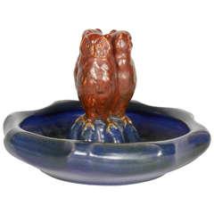 Ceramic Owl Vessel
