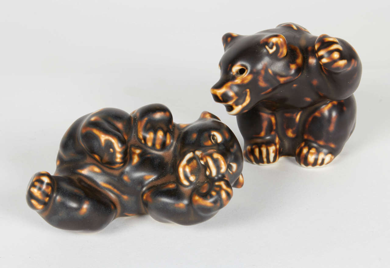 Danish Royal Copenhagen Bear Sculptures by Knud Kyhn For Sale