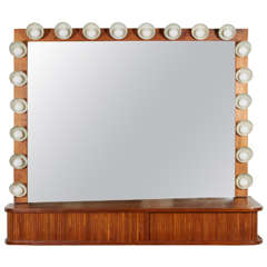 Custom Vanity with Perforated Metal Light Shades, Richard M. Wakamoto, 1957