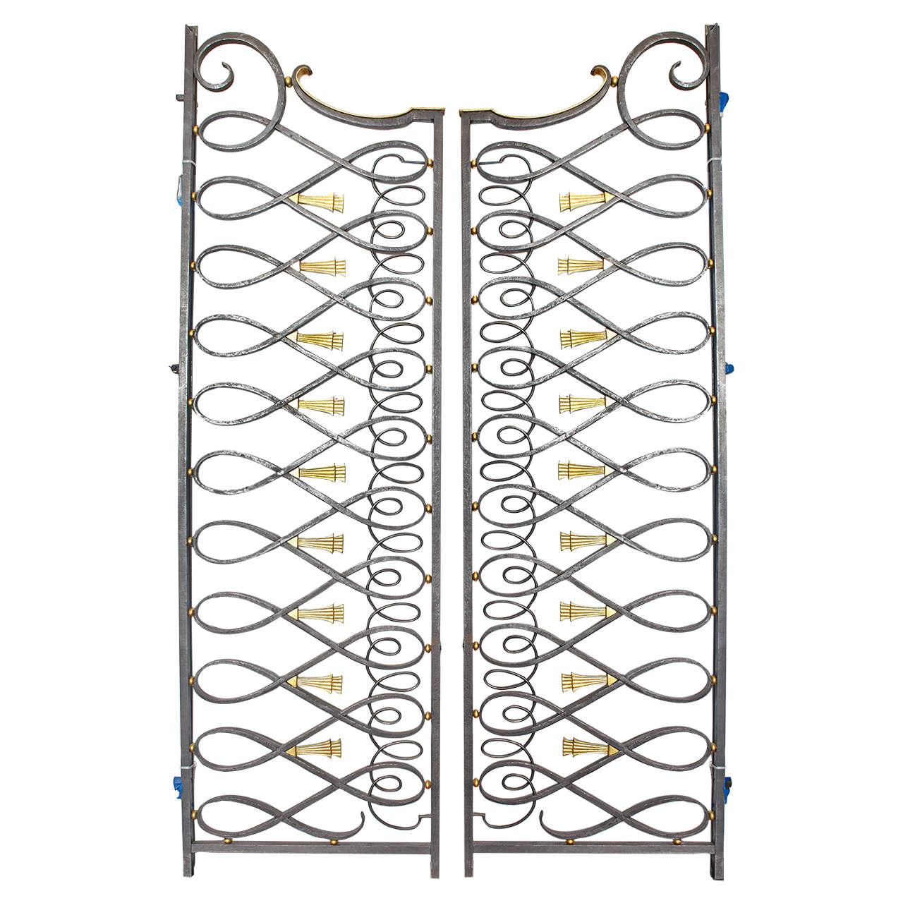 Art Deco Style Iron Gates