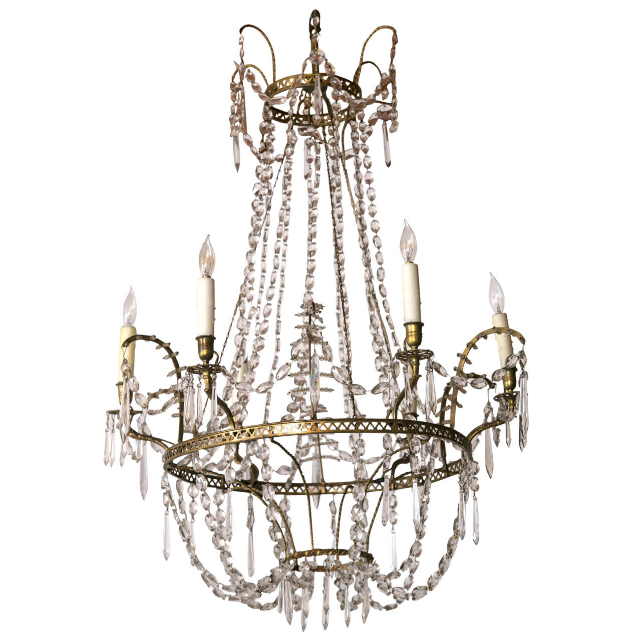 Baltic neoclassical bronze and crystal chandelier circa 1800 for baltic neoclassical bronze and crystal chandelier circa 1800 1 arubaitofo Image collections