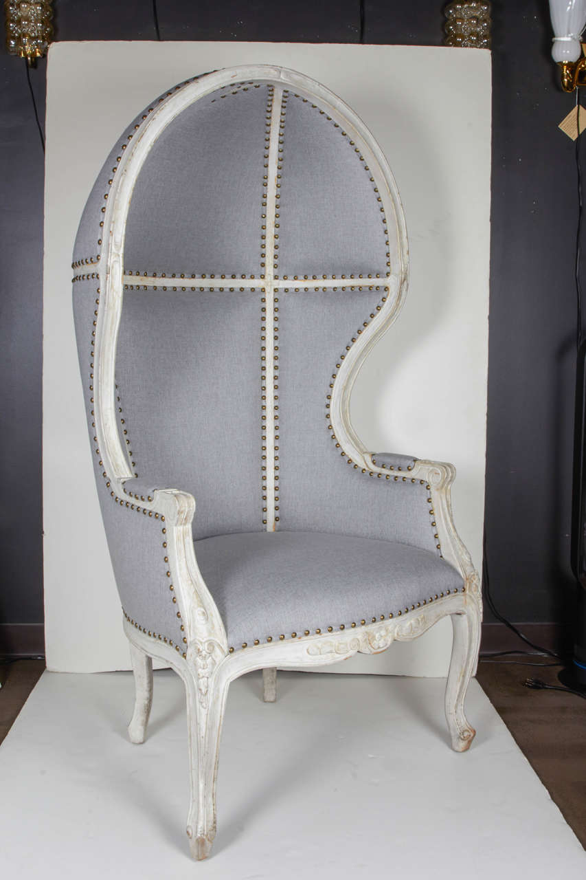 Pair Of Gustavian Style Canopy Chairs With Elegant Hooded