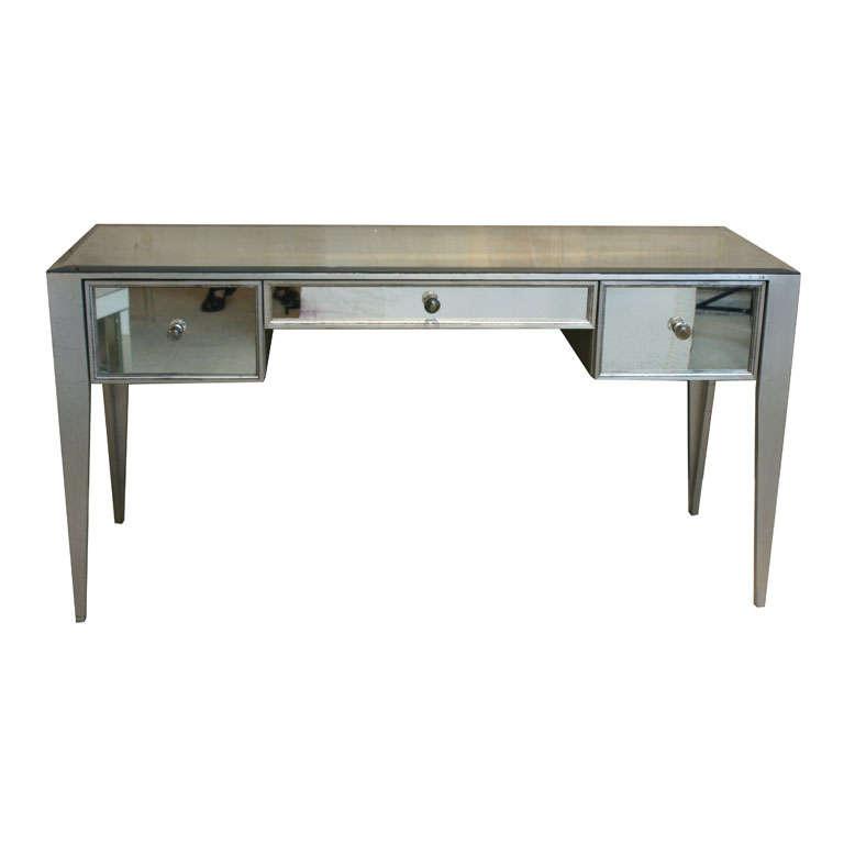 Mirrored 3 Drawer Vanity Desk At 1stdibs