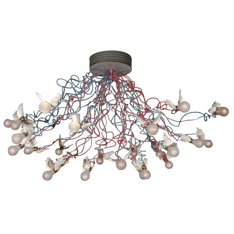 ingo maurer bird wing chandelier at 1stdibs. Black Bedroom Furniture Sets. Home Design Ideas