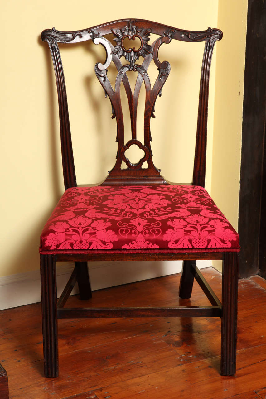 Set Of Four Antique Chippendale Period Mahogany Game