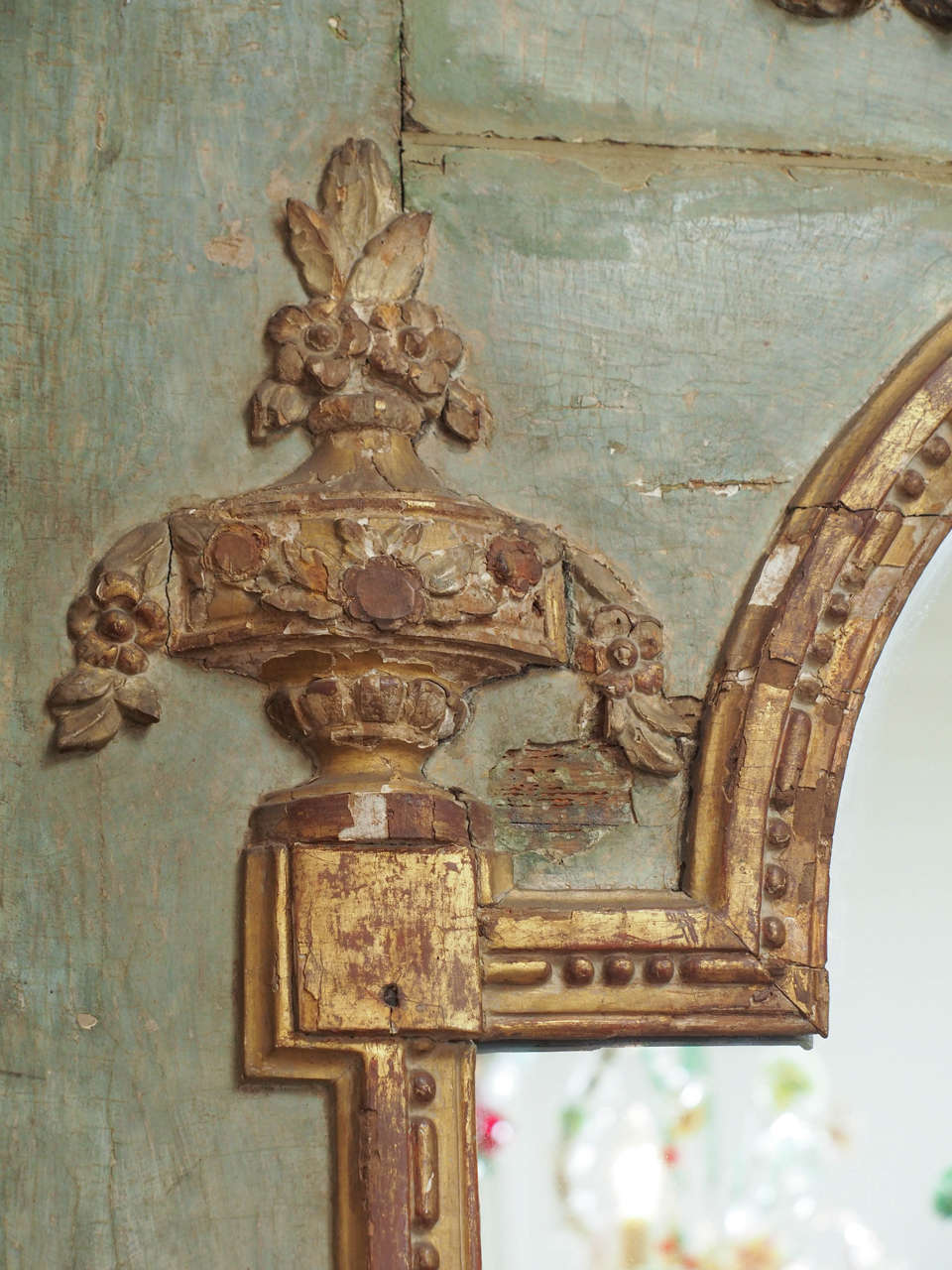 18 century french trumeau with music themed cartouche at for Music themed furniture