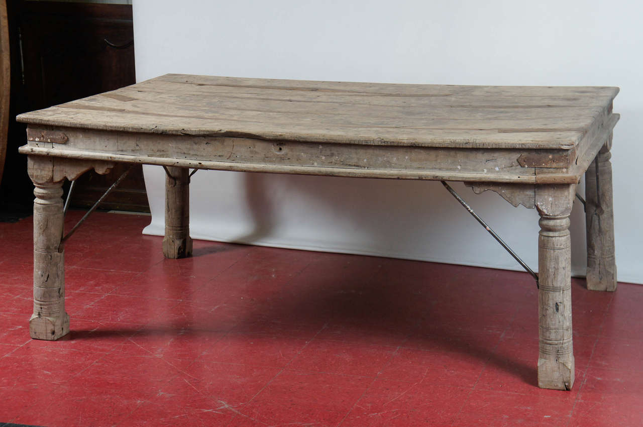 Impressive Hand Carved Indoor Or Outdoor Table Make With Hardwood Planks Four