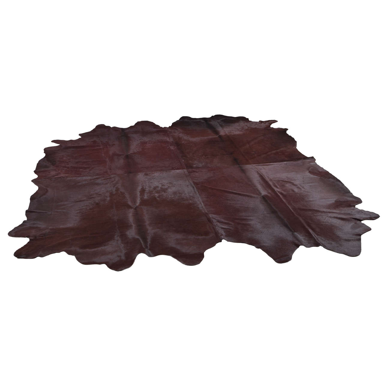 Xl Rag Rug: Pure Chestnut Cowhide XL Rug At 1stdibs