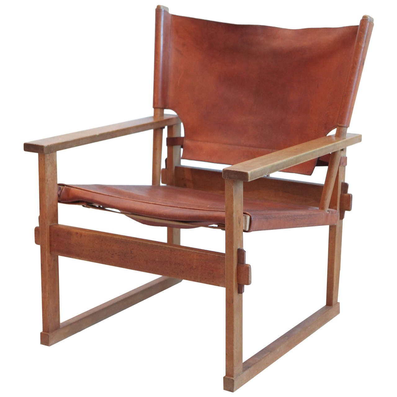 Image of: Safari Style Furniture Throughout Leather And Wood Safari Style Chair For Sale At 1stdibs