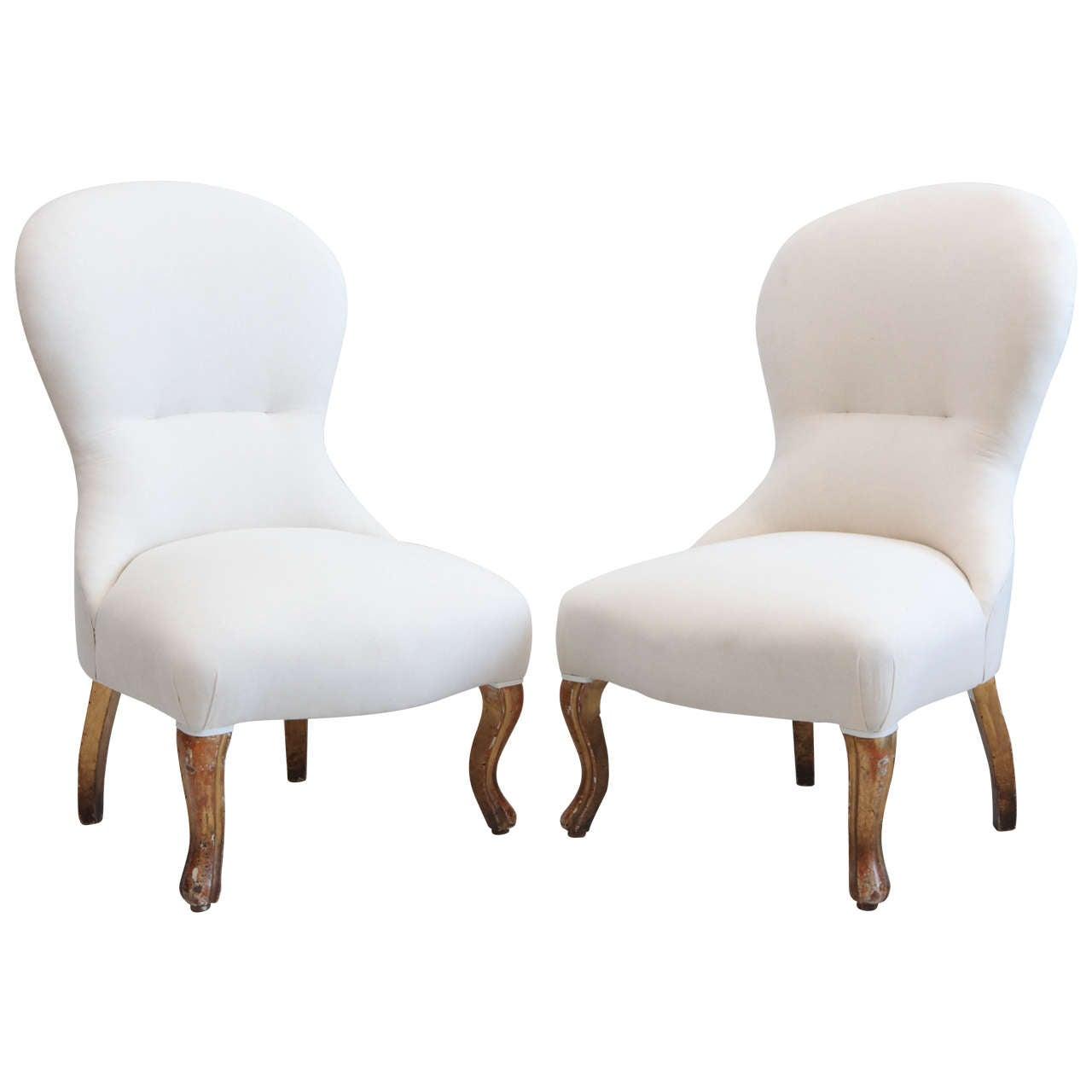Vintage italian slipper chairs at 1stdibs