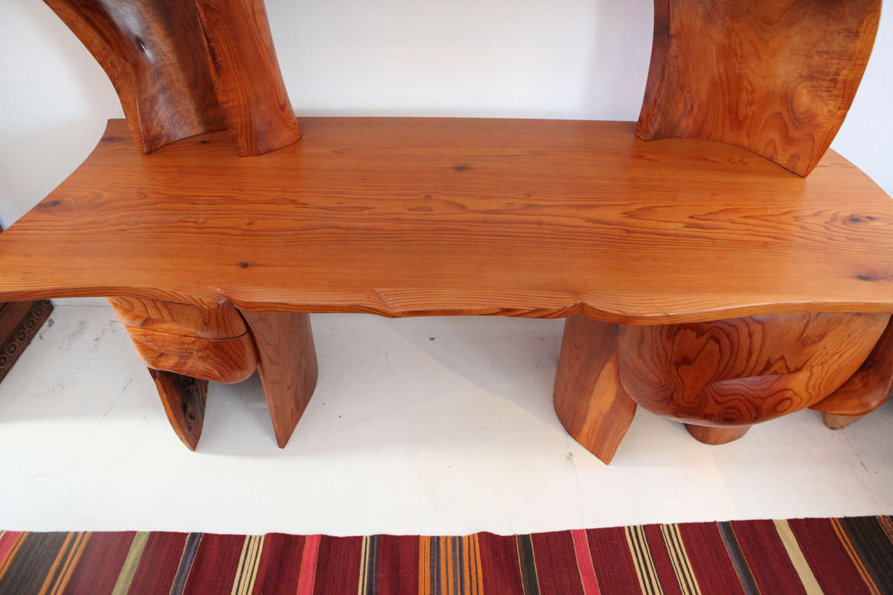 Scott Jaster Studio Organic Carved Desk In Good Condition For Sale In Los Angeles, CA