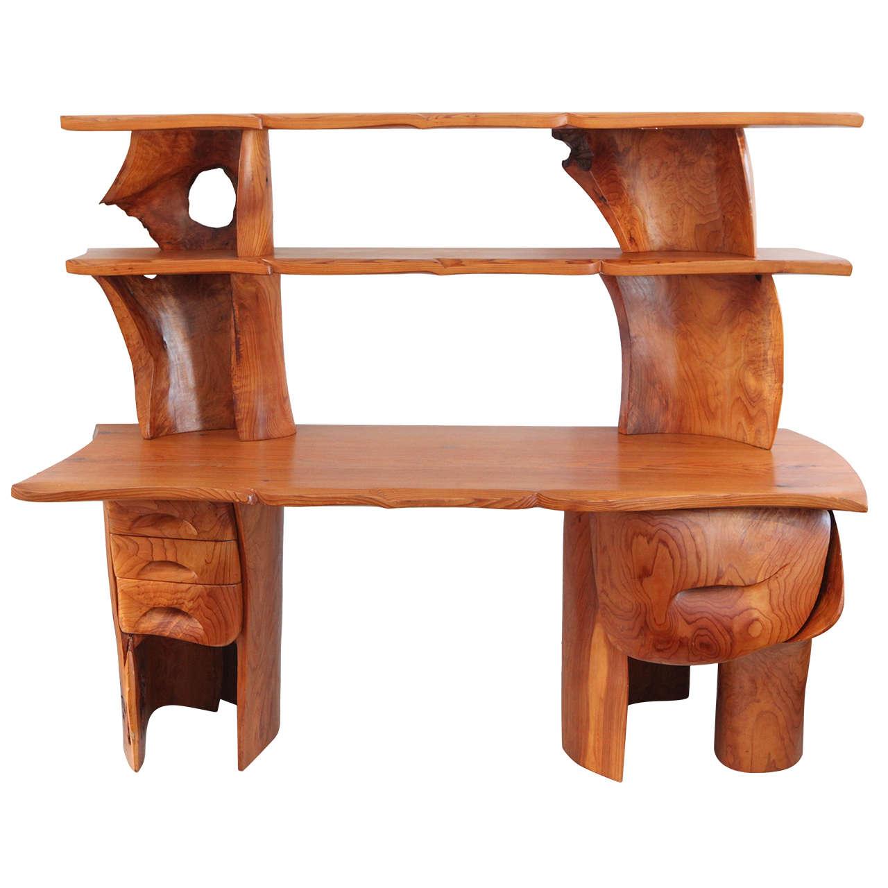 Scott Jaster Studio Organic Carved Desk 1