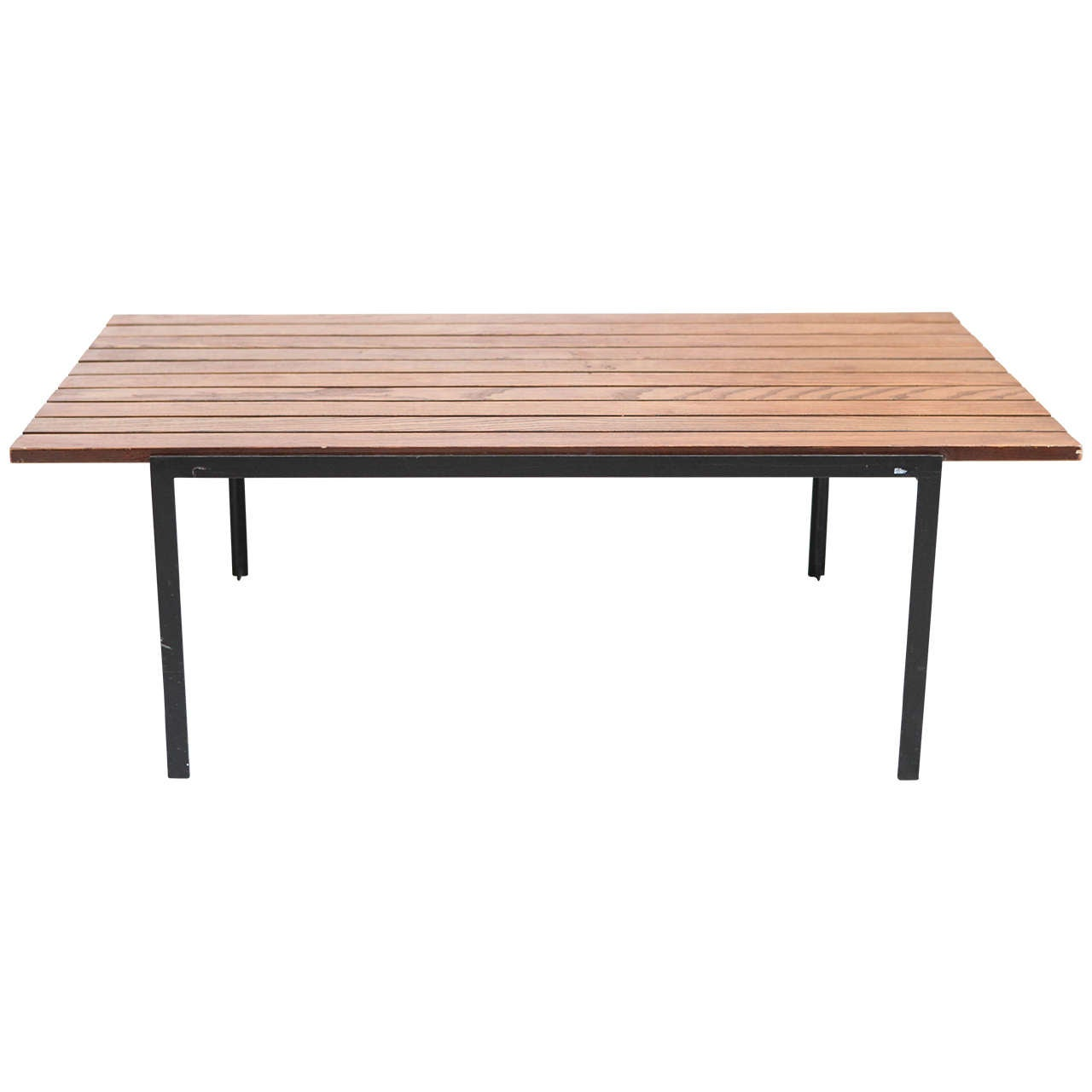 Slatted Wood Coffee Table By Florence Knoll At 1stdibs