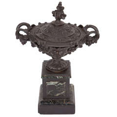 French Bronze and Marble Urn