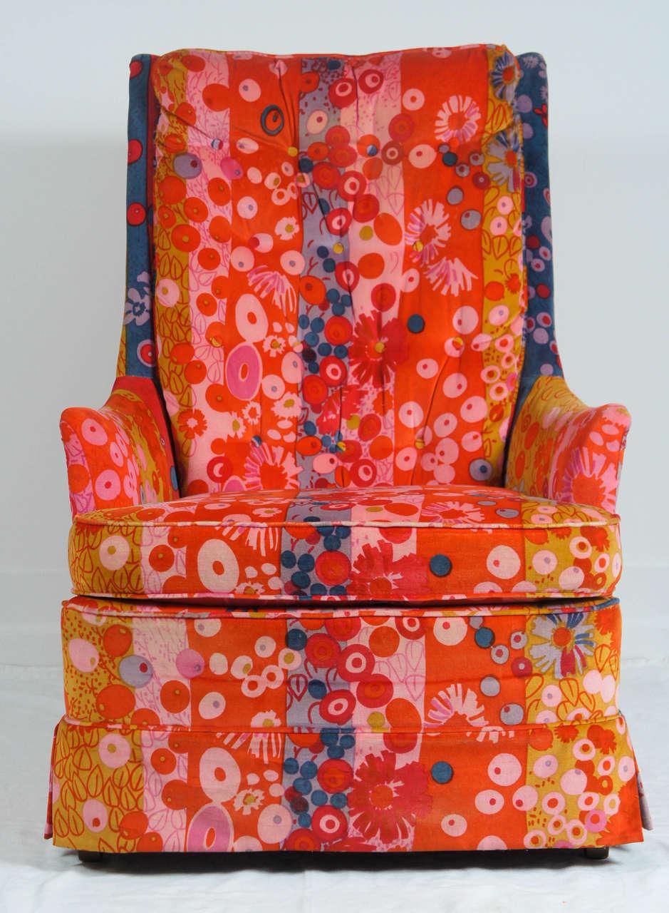 1960 39 s jack lenor larsen armchair for sale at 1stdibs. Black Bedroom Furniture Sets. Home Design Ideas