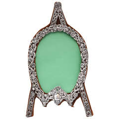 "Unusual Victorian Sterling Silver  Artist's ""Easel-Form"" Picture Frame"