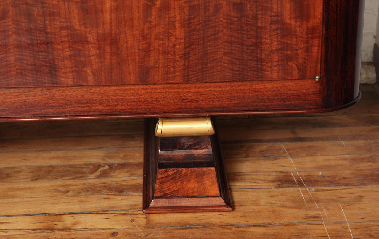 Art Deco Sideboard in Walnut with Parchment Center Door 3