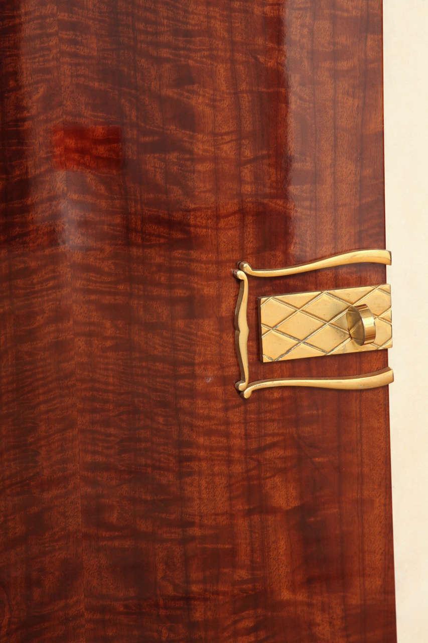 Art Deco Sideboard in Walnut with Parchment Center Door 5