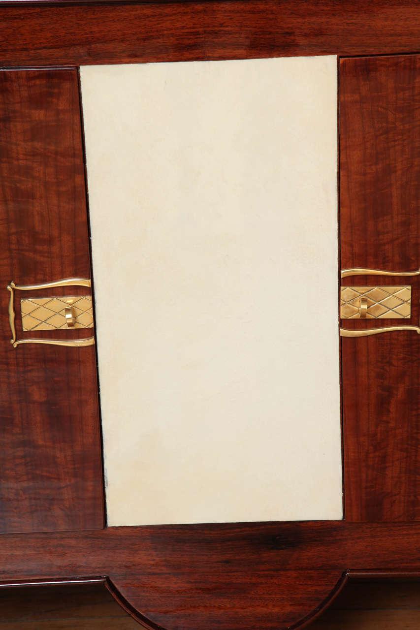 Art Deco Sideboard in Walnut with Parchment Center Door 6