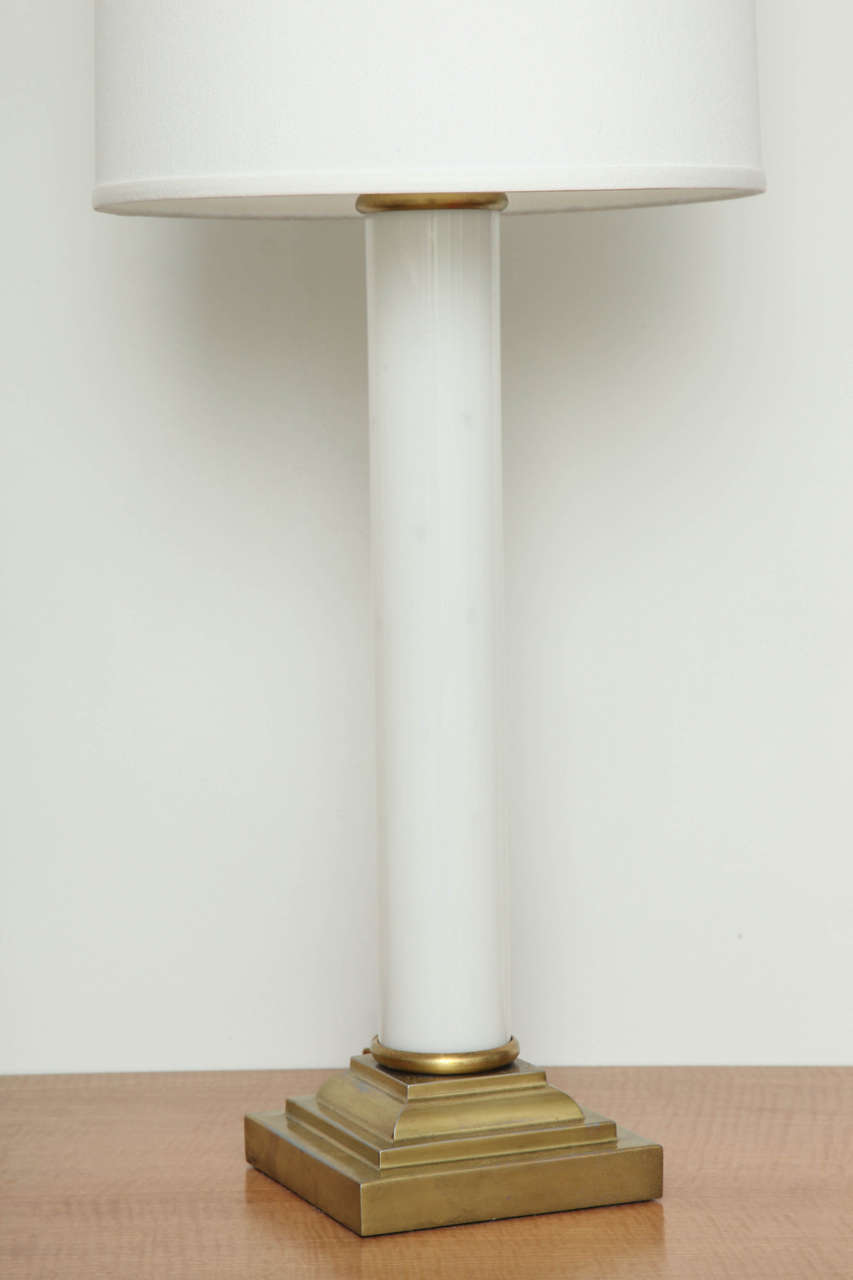 American Pair of Hollywood Glamour 1930s Side Lamp For Sale