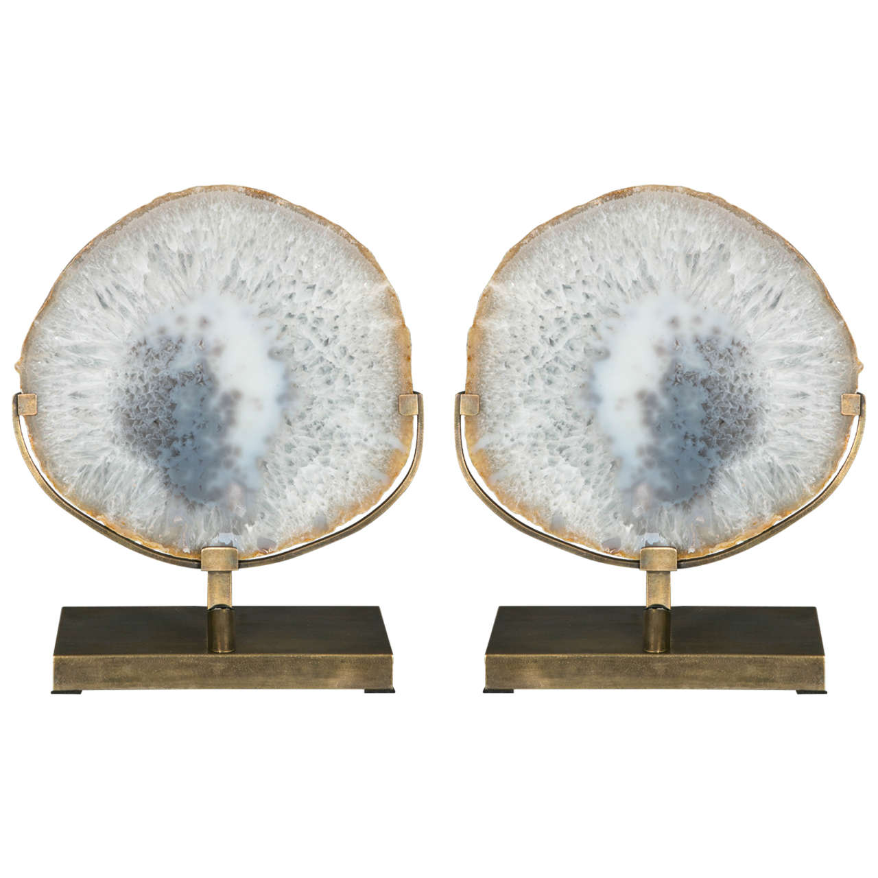 Pair of Agate Table Lamps