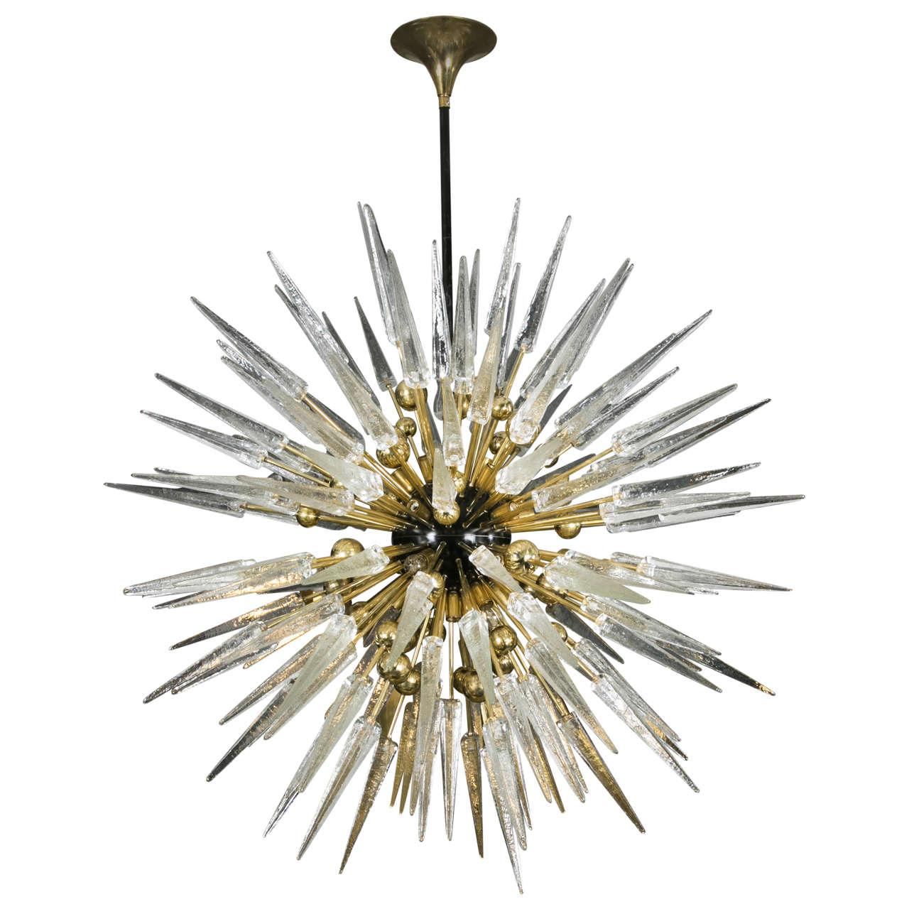 Murano glass sputnik chandelier at 1stdibs for Sputnik chandelier