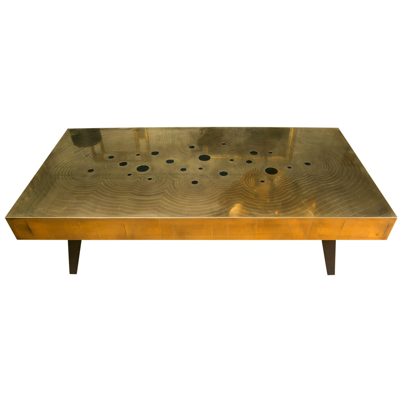 Brass And Black Jade Stones Coffee Table 1