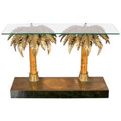 Palm Tree Console Table