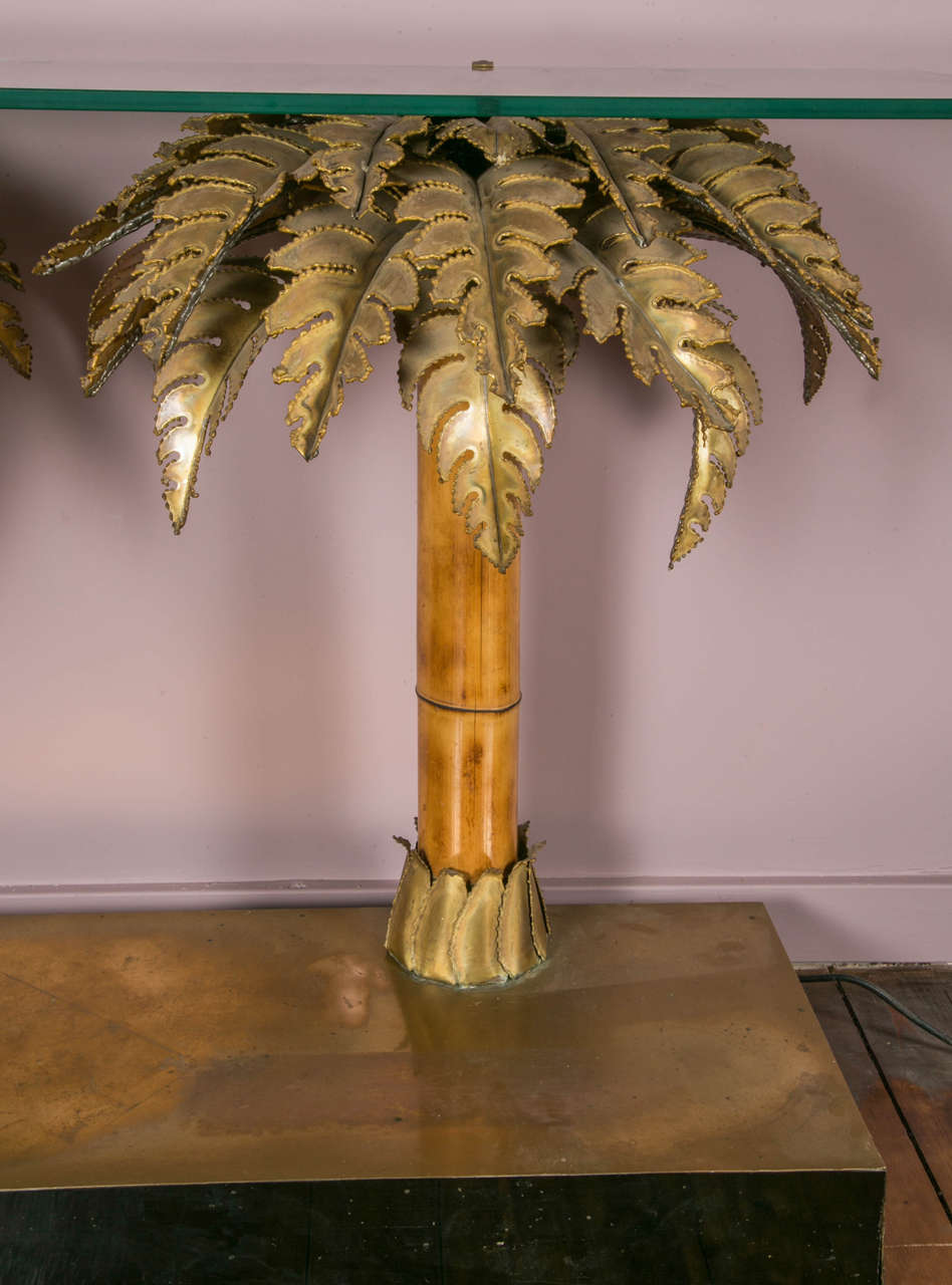 Palm Tree Console Table At 1stdibs